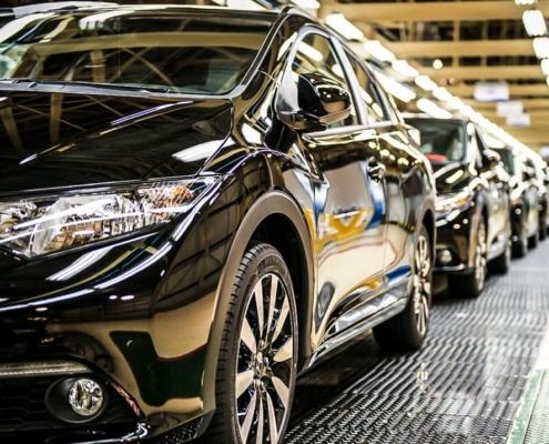 Honda fabriek in Engeland